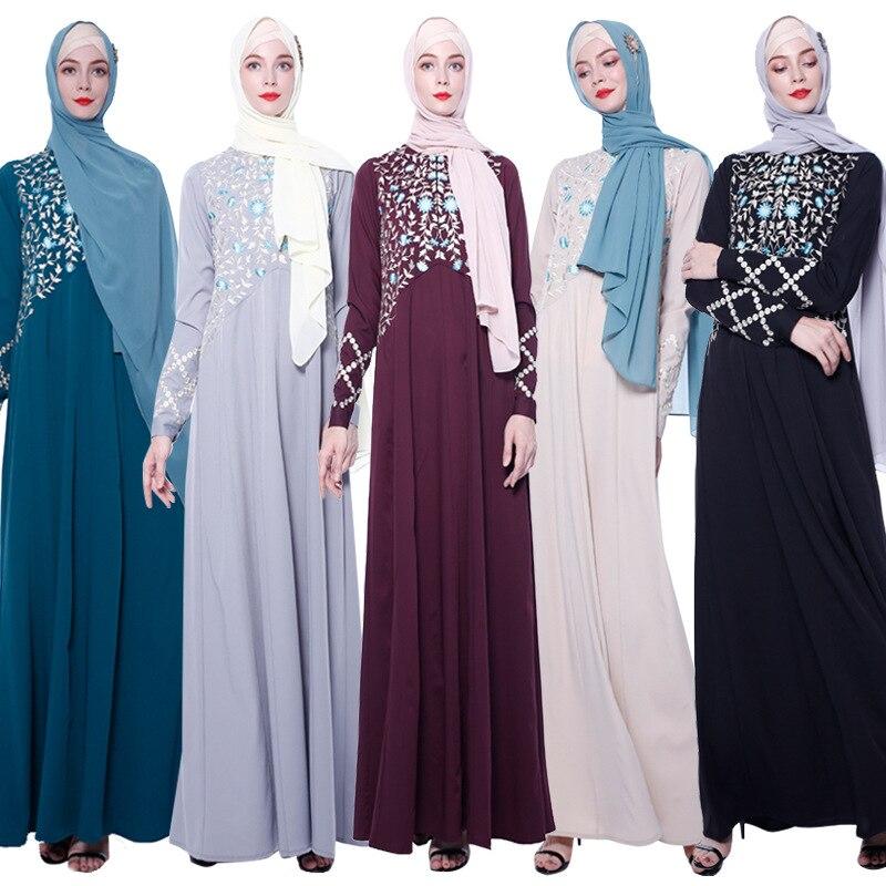 Abayas for Women Islam Caftan Marocain Dresses Vestidos European Clothing Kaftan Dubai Abaya Turkey Muslim Femme Musulmane 4