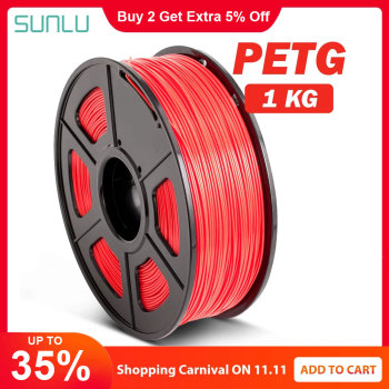 PETG 3D Filament 1.75mm 1KG 2.2lb PETG 3D Printer Filament Dimensional Accuracy +/- 0.02mm Translucence PETG Filament