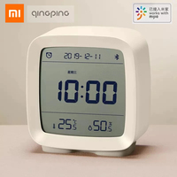 Xiaomi Cleargrass Bluetooth Wekker Temperatuur Vochtigheid Scherm Lcd Verstelbare Nachtlampje Met Mijia App Smart Home
