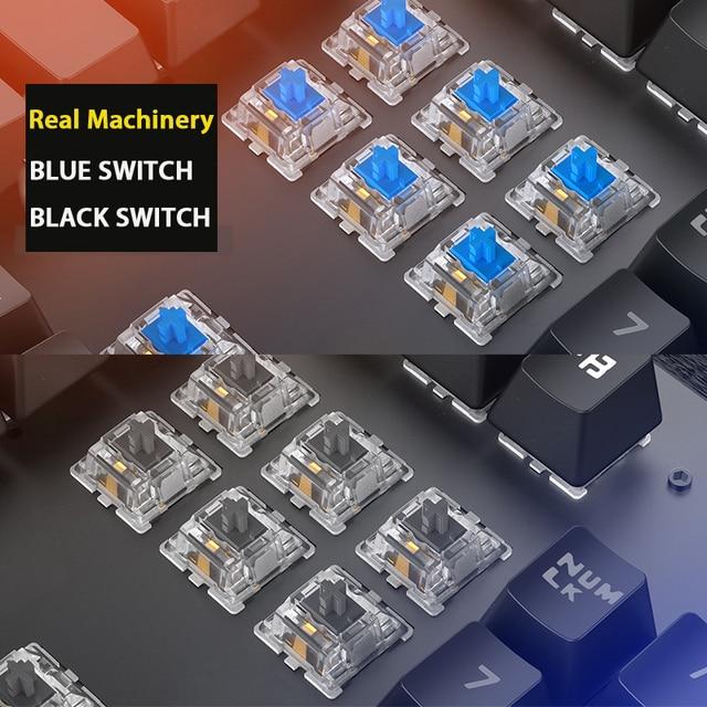 Gaming Mechanical Keyboard Punk Round Retro Keycap Backlit USB Wired Computer Peripherals 4