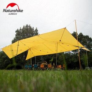 Image 2 - Naturehike שדרוג 10 אדם גדול קמפינג אוהל חיצוני 40D סיליקון ניילון כפול מגדל שמשיה חוף מקלט שמש אוהל