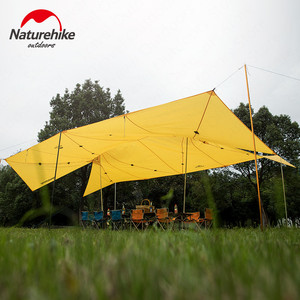 Image 2 - Naturehike Upgrade 10 Person Large Camping Tent  Outdoor 40D Silicone Nylon Double A Tower Sunshade Sun Shelter Beach Tent