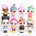 8 peças/set eaki surpresa boneca ornamentos brinquedo confetes glitter série figuras de ação anime para crianças aniversário bonecas brinquedos para meninas