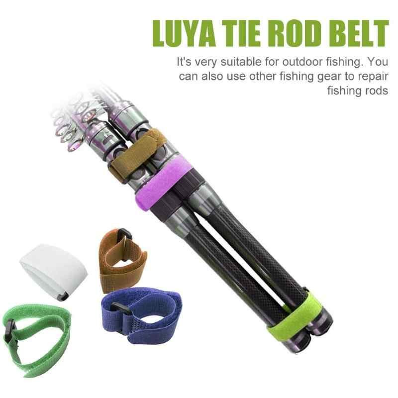 10 個釣竿ベルト 20 センチメートルナイロン再利用可能な釣竿ネクタイ固定ストラップロープホルダー