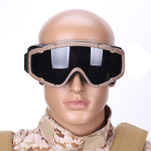 2019 Tactical Combat Goggles With 2 Lens Outdoor Hunting Sun
