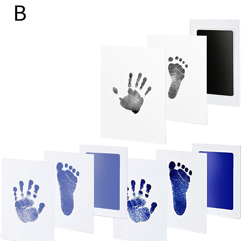 Baby Care Non-Toxic Handprint Kit Imprint Footprint Imprint Baby Souvenirs Newborn Baby Cushion Ink Footprint Infant Toy