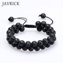 Natural Energy Stone Essential Oil Lava Rock Black Onyx Tiger Eye Beads Bracelet