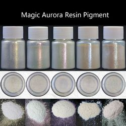 6 Colors Shiny Aurora Resin Pigments Polarized Diamond Pearlescent Pigments Kit Colorants Resin Dye Jewelry Making Tools