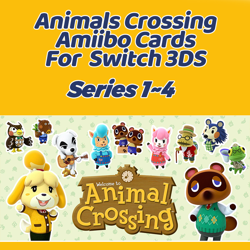 Animal Crossing Amiibo Card Set Work For Switch NS 3DS Games Series 1~4 Animals Crossing Magic Box image