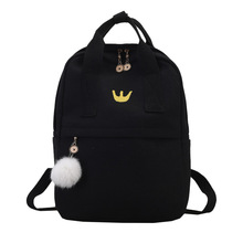 Preppy Women Backpack for School Teenagers Girl Vintage Styl
