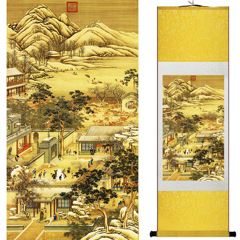 landscape painting Home Office Decoration Chinese scroll painting Mountains and river painting decoration painting 19051301