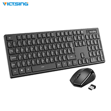 VicTsing Keyboard Mice Set Comfortable Cordless and Optical Quick Responsive Full Size