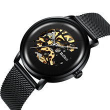 купить BIDEN Fashion Male Watch Automatic Self-Wind Mechanical Mens Mesh Wristwatch Waterproof Mesh Top Brand 2019 Casual Montre Homme дешево