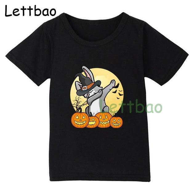 Cool Halloween T Shirt Funny Cartoon Tee Top Boys Girls