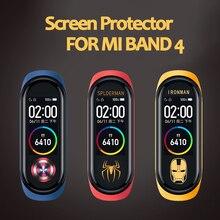 Для Xiaomi Mi Band 4 защитная пленка для экрана для Xiaomi Mi Band 4 аксессуары для смарт-браслета полноэкранная проницаемая пленка