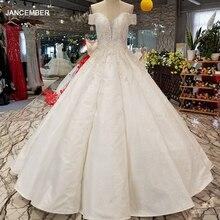 LS09670 어깨 아가씨 신부 가운 중국 온라인 상점 도매 오프 구슬과 바닥 길이 웨딩 드레스