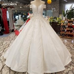 Image 1 - LS09670 어깨 아가씨 신부 가운 중국 온라인 상점 도매 오프 구슬과 바닥 길이 웨딩 드레스