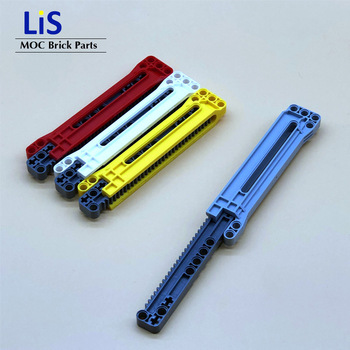 1 Set Compatible with LOGOs Technic Parts Gear Rack 1x14x2 with Axle and Pin Holes Housing Combination Bricks Blocks DIY Toys image