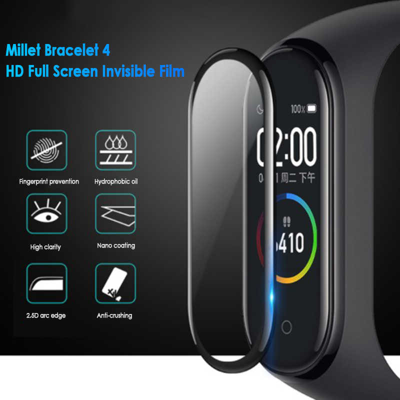 Accessoires Smartwatch Film de protection pour Mi Band 4 sangle anti-déflagrant/résistant aux rayures protection d'écran verre Non trempé