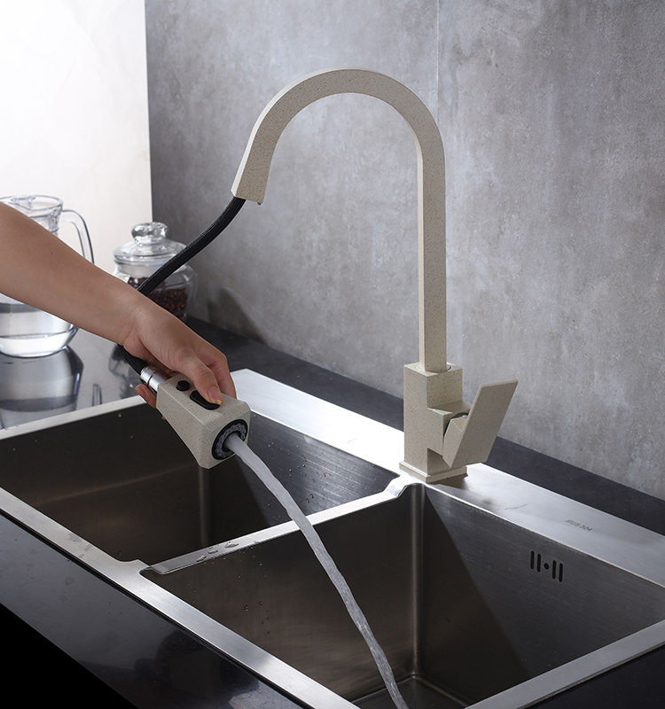 H1bafa3124ce948a19a21a34a9ae0b049m Black Kitchen Faucet Pull Out Kitchen Tap Single Hole Handle Swivel 360 Degree Hot Cold Water Mixer Tap Kitchen Water Tap Faucet