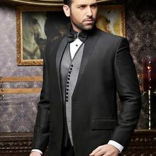 Coat Pants Vest Costumes Tuxedos Jacket Wedding-Suit Slim-Fit Italian Black Designs 3piece