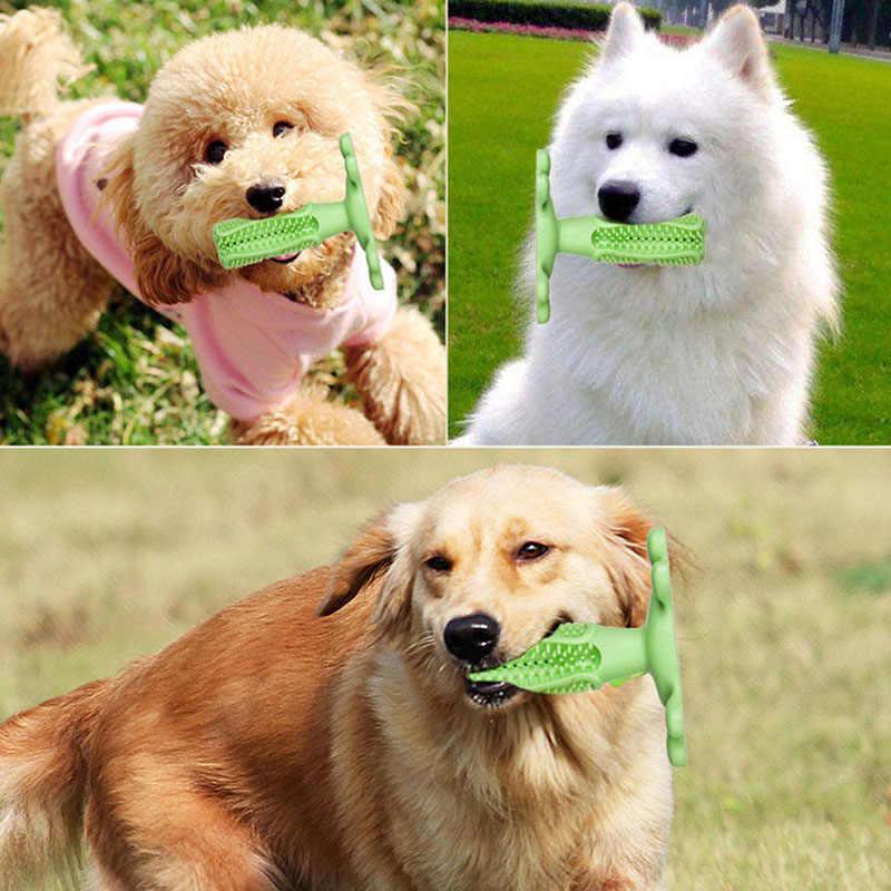 Cepillo dental para perro mascota de juguete para masticar, cepillo para perros, cepillo de dientes de goma suave para limpieza de puntos, pasta de dientes para perros pequeños, cepillos de dientes para mascotas