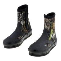 Outdoor wodoodporne buty rybackie Waders Camo taktyczne antypoślizgowe ciepłe buty wojskowe do wędkowania River Tracing polowanie Camping Shoe w Wodery od Sport i rozrywka na