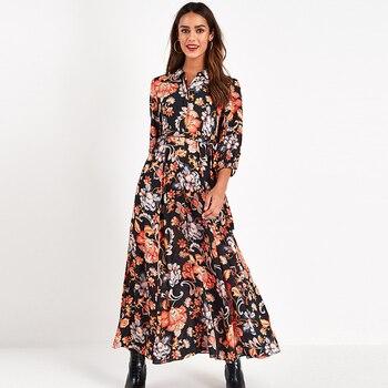 Maxi Dress Women Boho Three Quarter 3