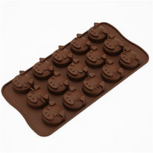 15-hole Chocolate Fudge Silicone Mold Chocolate Mold Cake Decoration DIY Ice Tray Baking Mold(China)