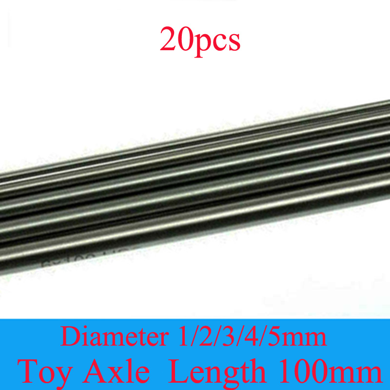 20PCS Model Toy Car Axles Diameter 1/2/3/4/<font><b>5mm</b></font> HSS Steel <font><b>Shaft</b></font> Length 100mm Connecting <font><b>Rod</b></font> Mini Axis for DIY RC Accessories image