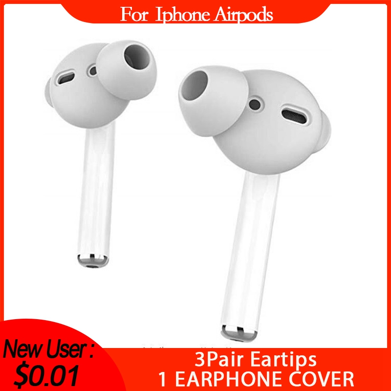 For Airpods Silicone Cover Ear Pads Earbuds Cover Silicone Cap For Iphone-Airpods Eartips Anti-shedding Painless Earphone Cover