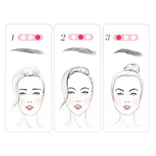 New 3 In 1 Eyebrow Stencils Handheld Eyebrow Card Thrush Tools Eyebrow Shaping Tools 5