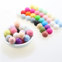 wholesale 1000pcs 10mm silicone beads Baby Teether BPA Free DIY Necklace Pacifie