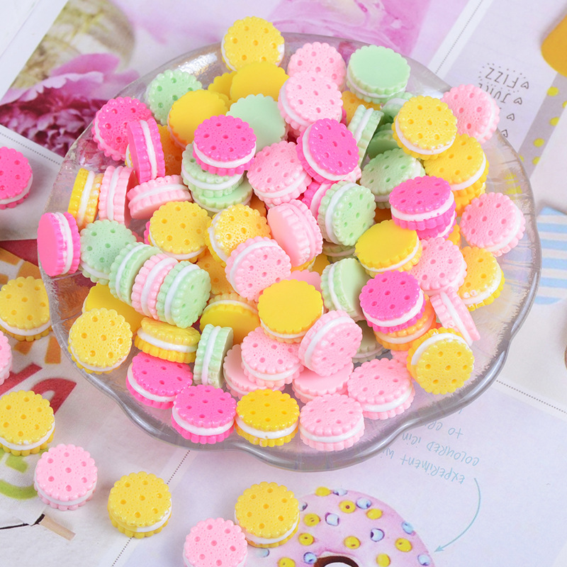 Happy Monkey Slime Additives Resin Biscuit Charms New Kawaii DIY Kit Decor Filler For Cloud Clear Crunchy Slime Clay Accessories