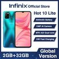 Глобальная версия Infinix Горячая 10 Lite 2 Гб оперативной памяти, 32 Гб встроенной памяти, смартфон 6,6
