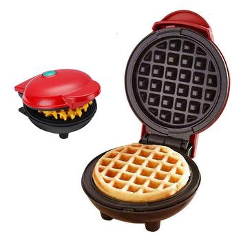 Mini gofrownica elektryczna gofry ekspres ciasto bąbelkowe piekarnik śniadanie maszyna do gofrów jajko ciasto piekarnik Pan Paninis Eggette maszyna tanie i dobre opinie NoEnName_Null CN (pochodzenie) 400 w Rohs Mini electric Waffles Maker Nieprzywierająca powierzchnia kuchenna Gofrownice