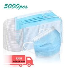1000pcs 2000pcs 5000pcs Disposable Face Masks 3 Layers