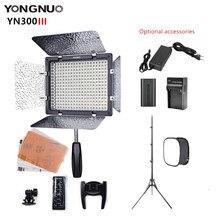 Yongnuo yn300iii 3200-5500k cri95 câmera foto led luz de vídeo estúdio lâmpada para maquiagem tiktok opcional com tripé de bateria sotbox