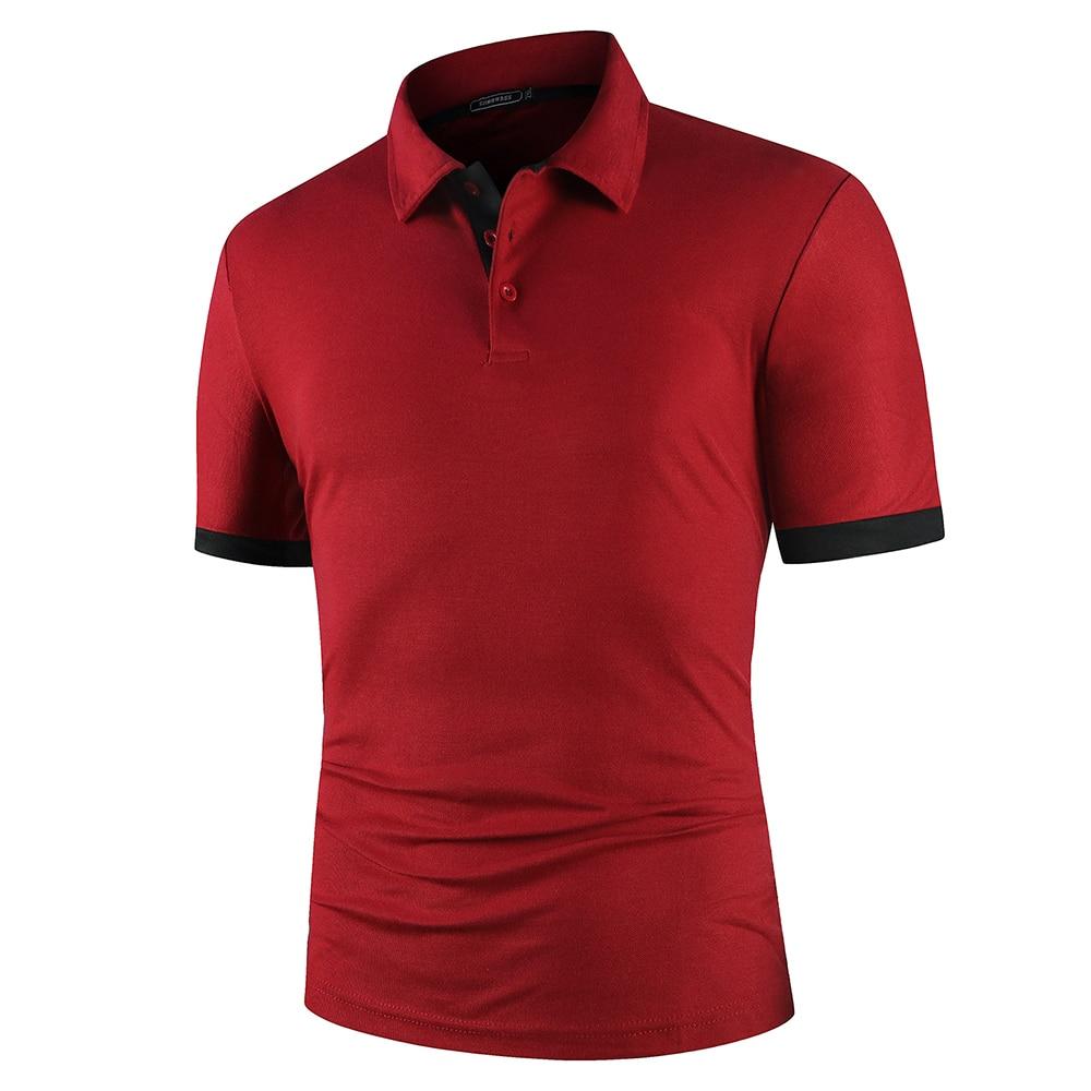 KB Men Polo Men Shirt Short Sleeve Polo Shirt Contrast Color Polo New Clothing Summer Streetwear Casual Fashion Men tops 5