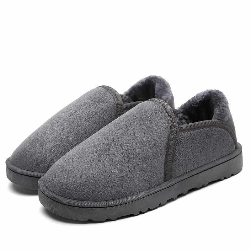 Mens ฤดูหนาวรองเท้าบู๊ตหิมะผู้ชาย Slipon รองเท้าแฟชั่นคู่รองเท้าสำหรับชายรองเท้าเชลซีสีเทาคนรัก Botas KOZLOV