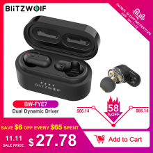 Blitzwolf Earbud Wireless Headphones Dual-Dynamic-Driver V5.0 Bass-Stereo Tws Bluetooth