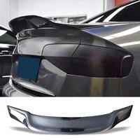 Car Trunk Spoiler Carbon Fiber FRP Auto Rear Trunk Wing R Style Refit Accessories Spoiler For Audi A4 B8 B9 Sedan 2013 2016