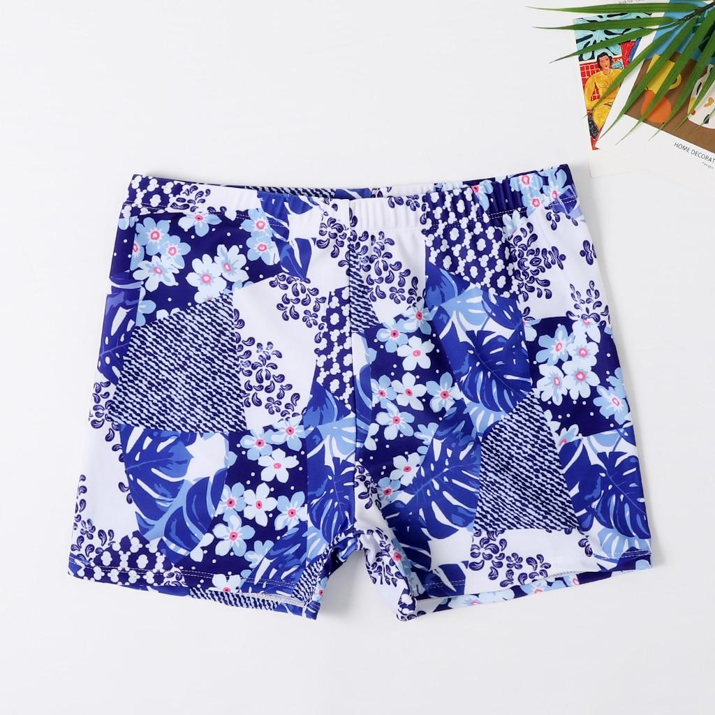 Новые плавки для маленьких мальчиков пляжные шорты для папы и меня Семейные пляжные шорты спортивный купальник Короткие штаны с цветочным рисунком - Габаритные размеры: XL (Boy 5-6Y)