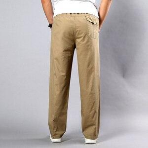 Image 2 - Estate Autunno Uomini Pantaloni Casual Del Cotone Pantaloni Lunghi 2020 Dritto Pantaloni Homme Grande Formato 5XL di Lavoro di Business Traspirante Pantaloni Da Uomo