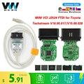 Для Toyota mini vci TIS Techstream V15.00.028 minivci FTDI для J2534 OBD OBD2 автомобильный диагностический сканер инструмент MINI-VCI кабель