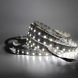 Image 4 - 5m Double Row 600 LED Strip light 5050 RGB + 2835 White / Warm White 12V 120 LED/m led Flexible ribbon tape lamp RGBW