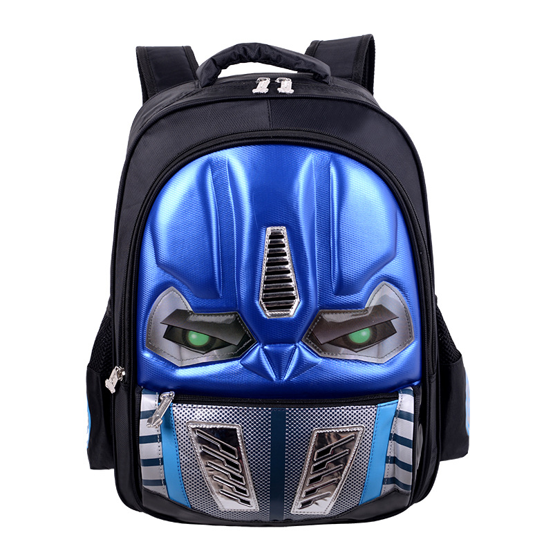 Schoolbag For Elementary School Students Transformers 1-3-6 Grade Hard Case CAR Children Waterproof 3D Dazzle Light Shoulder