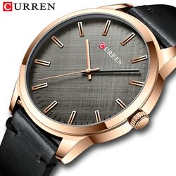 CURREN Watches Mens 2020 Classic Simple Quartz Leather Wristwatch Male Business Clock Relógio masculino