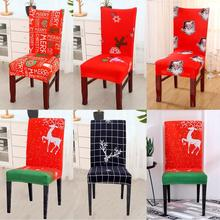Santa Claus Elk Christmas Chair Covers Decorations for Home Xmas 2019 Noel Gift Navidad New Year 2020