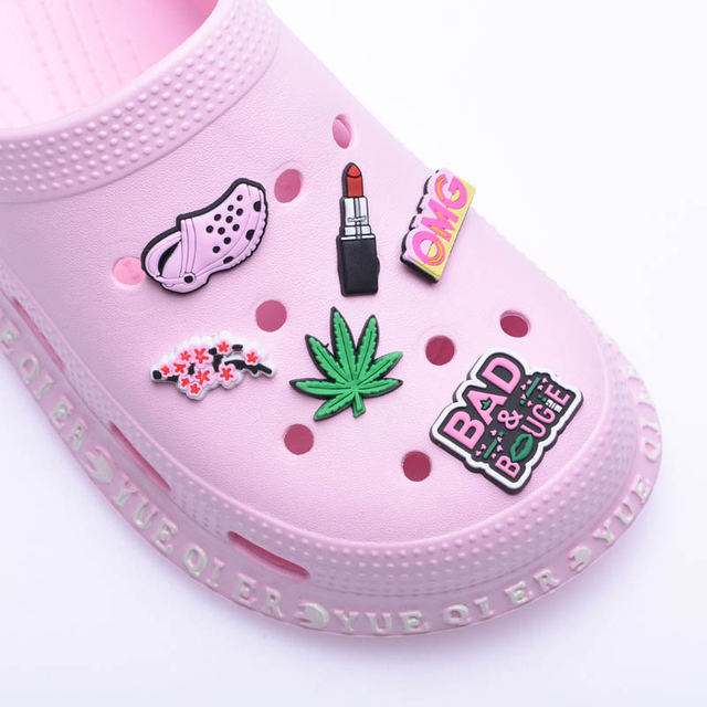 1 pcs Original Shoe Charms Black Panther PVC Croc Accessories Decorations lipstick JIBZ Charm Buckle for Kids Party Xmas Gifts
